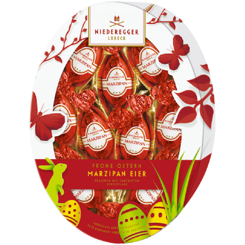 Praline Easter Eggs Dark Chocolate Niederegger Marzipan 150g